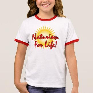 Naturist / Nudist Ringer T-Shirt
