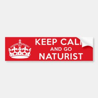 Naturist/nudista Pegatina Para Auto