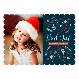 Naturlig jul hälsning card