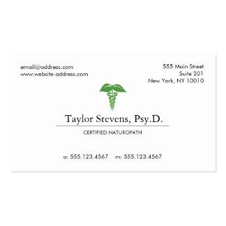 Naturopath Holistic Health Caduceus Business Card