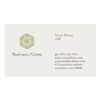 Naturopath Natural Holistic Health Healer Business Cards