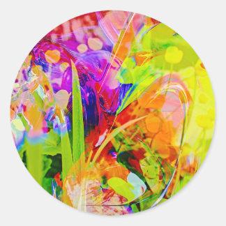 Natut abstract 2 classic round sticker