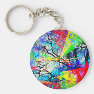 Natut abstract 3 keychain