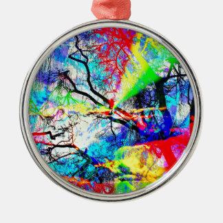 Natut abstract 3 metal ornament