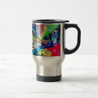 Natut abstract 3 travel mug