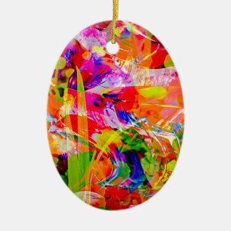 Natut abstract 6 ceramic ornament