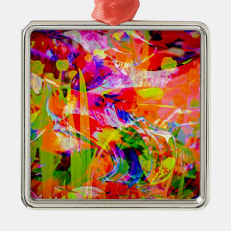 Natut abstract 6 metal ornament
