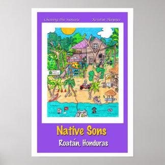 Natve Sons Dive Shop Poster