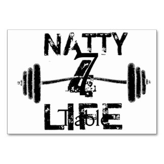 Naty 4 Life Logo Wear Table Card
