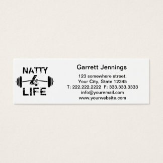 Naty desgaste del logotipo de 4 vidas tarjetas de visita mini