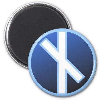 Naudiz Rune 2 Inch Round Magnet