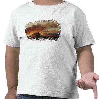 Naufragio c 1850 aceite en lona camiseta