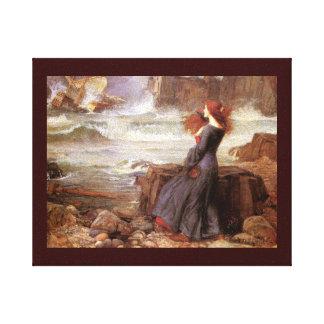 Naufragio de observación de Miranda (tempestad) Lona Envuelta Para Galerias