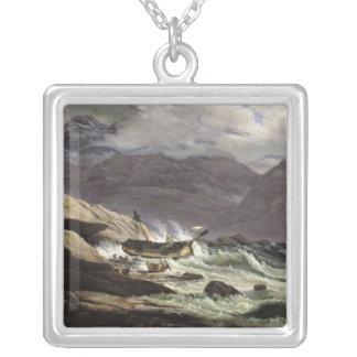 Naufragio en la costa noruega, 1831 collar plateado