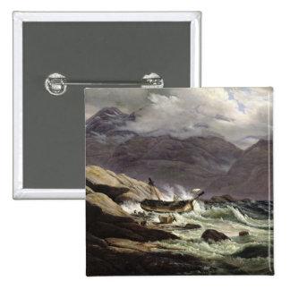 Naufragio en la costa noruega, 1831 pin cuadrado