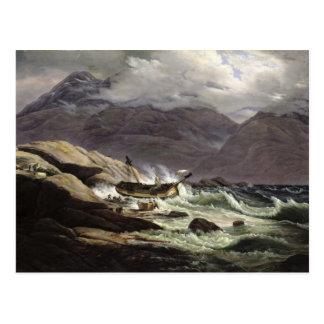 Naufragio en la costa noruega, 1831 postal