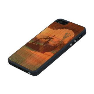 Naufragio en la puesta del sol funda de cerezo carved® para iPhone 5