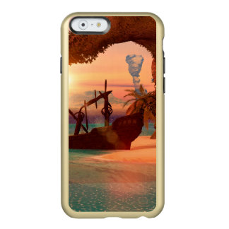 Naufragio en la puesta del sol funda para iPhone 6 plus incipio feather shine