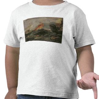 Naufragio en una orilla rocosa c 1645-50 camiseta