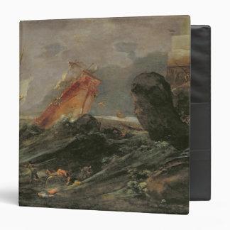 """Naufragio en una orilla rocosa, c.1645-50 carpeta 1 1/2"""""""