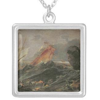 Naufragio en una orilla rocosa, c.1645-50 colgante cuadrado