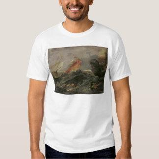 Naufragio en una orilla rocosa, c.1645-50 remera