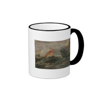 Naufragio en una orilla rocosa, c.1645-50 taza de dos colores