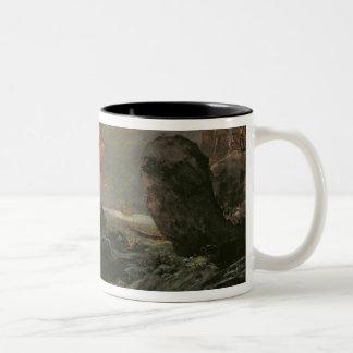 Naufragio en una orilla rocosa, c.1645-50 taza de dos tonos