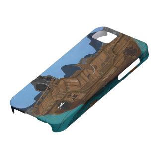 Naufragio subacuático iPhone 5 carcasa