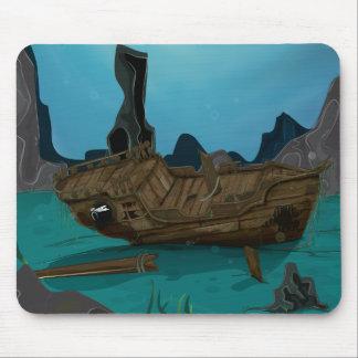 Naufragio subacuático tapete de ratones