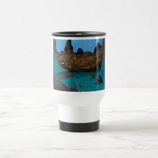 Naufragio subacuático tazas de café