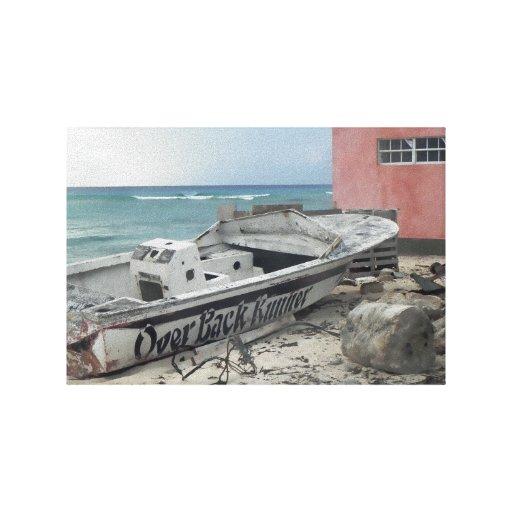 Náufrago del Caribe Impresiones En Lona Estiradas