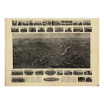 Naugatuck Connecticut 1906 Panoramic Map Poster