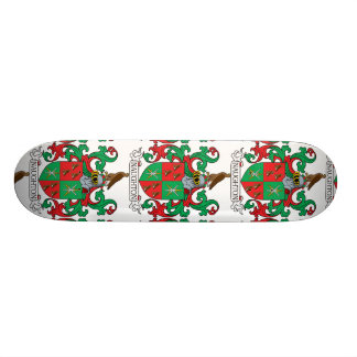 Naughton Family Crest Custom Skate Board