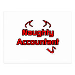 Naughty Accountant Post Card