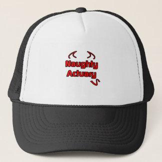 Naughty Actuary Trucker Hat