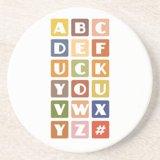 Naughty Alphabets coaster