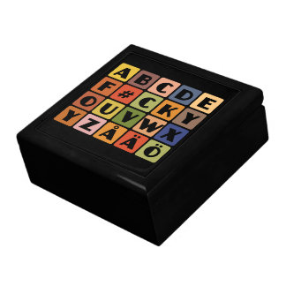 Naughty Alphabets gift / jewelry / trinket box