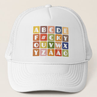 Naughty Alphabets hat - choose color
