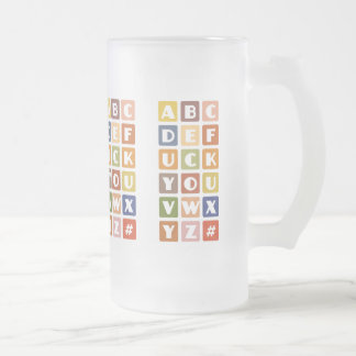 Naughty Alphabets mug – choose style & color