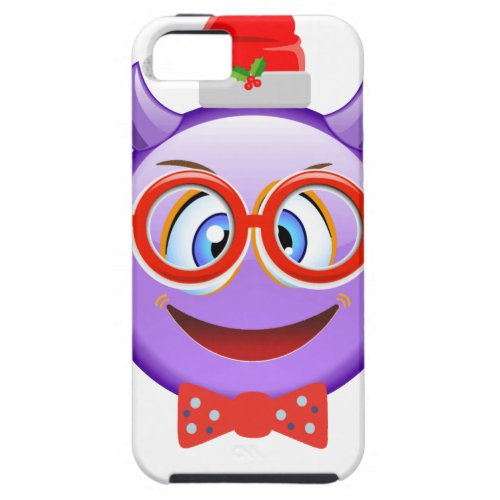 Naughty and Geeky at Christmas Emoji iPhone SE55s Case