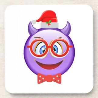 Naughty and Geeky at Christmas Emoji Coaster