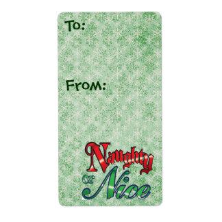 Naughty and Nice Christmas Gift Tags