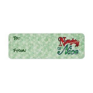 Naughty and Nice Christmas Gift Tags - Small