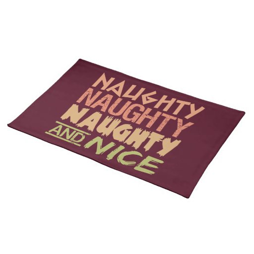Naughty And Nice Custom Placemats Zazzle