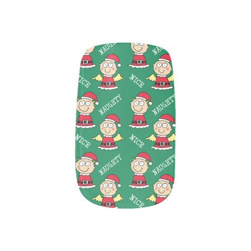 Naughty and Nice Elves Minx® Nail Art