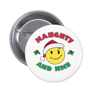 Naughty and Nice - Happy Face Button