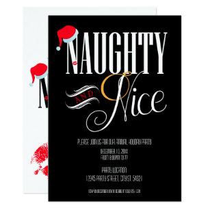 Naughty Or Nice Christmas Invitations Zazzle