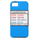 Naughty and Nice iPhone 5 Covers