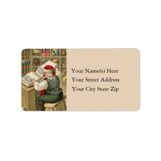 Naughty and Nice List Vintage Address Label